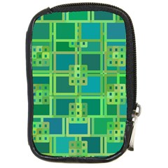 Green Abstract Geometric Compact Camera Cases