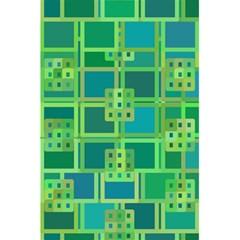 Green Abstract Geometric 5 5  X 8 5  Notebooks