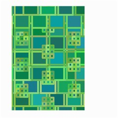 Green Abstract Geometric Large Garden Flag (two Sides)
