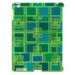 Green Abstract Geometric Apple Ipad 3/4 Hardshell Case (compatible With Smart Cover)