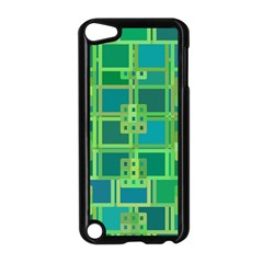 Green Abstract Geometric Apple Ipod Touch 5 Case (black)