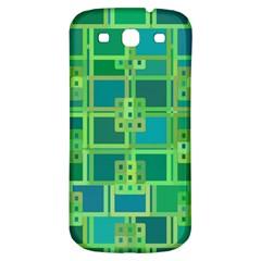 Green Abstract Geometric Samsung Galaxy S3 S Iii Classic Hardshell Back Case