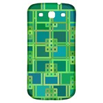 Green Abstract Geometric Samsung Galaxy S3 S III Classic Hardshell Back Case Front