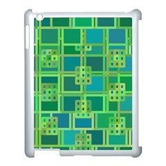 Green Abstract Geometric Apple Ipad 3/4 Case (white)