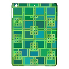 Green Abstract Geometric Ipad Air Hardshell Cases