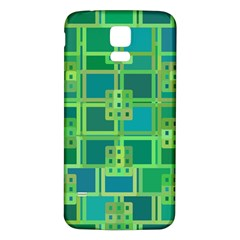 Green Abstract Geometric Samsung Galaxy S5 Back Case (white)