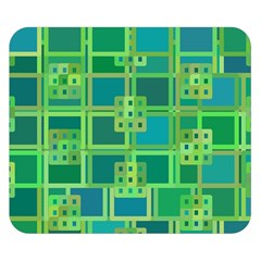 Green Abstract Geometric Double Sided Flano Blanket (small)