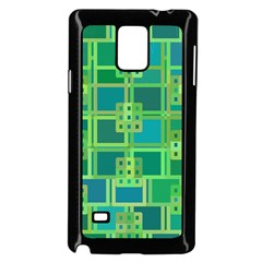 Green Abstract Geometric Samsung Galaxy Note 4 Case (black)