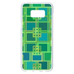 Green Abstract Geometric Samsung Galaxy S8 Plus White Seamless Case