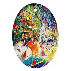 Multicolor Anime Colors Colorful Ornament (oval)