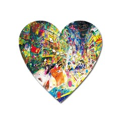 Multicolor Anime Colors Colorful Heart Magnet