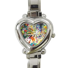 Multicolor Anime Colors Colorful Heart Italian Charm Watch