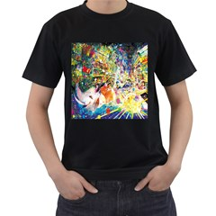 Multicolor Anime Colors Colorful Men s T Shirt (black) (two Sided)
