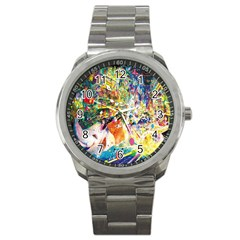 Multicolor Anime Colors Colorful Sport Metal Watch