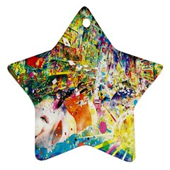 Multicolor Anime Colors Colorful Star Ornament (two Sides)