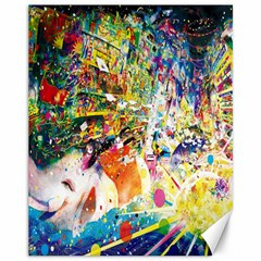Multicolor Anime Colors Colorful Canvas 11  X 14