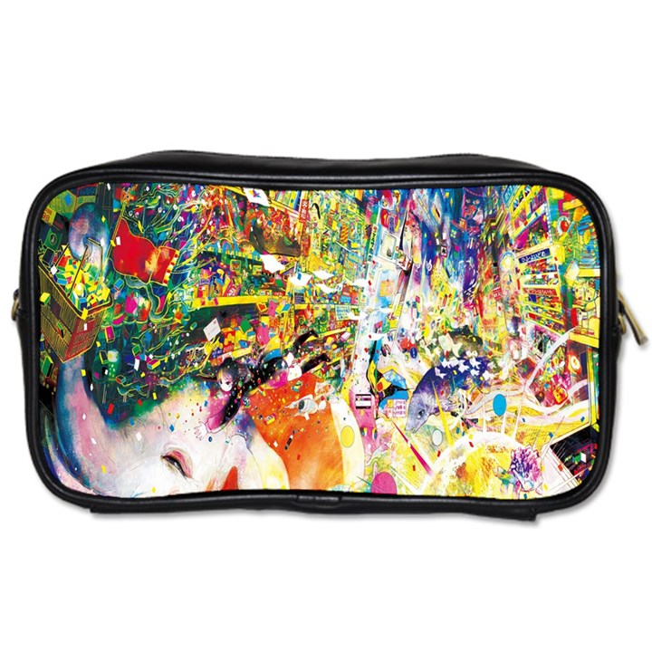 Multicolor Anime Colors Colorful Toiletries Bags 2-Side
