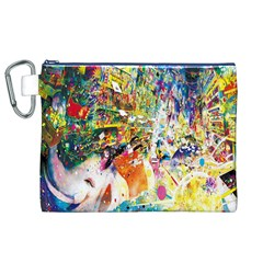 Multicolor Anime Colors Colorful Canvas Cosmetic Bag (xl)