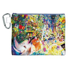 Multicolor Anime Colors Colorful Canvas Cosmetic Bag (xxl)