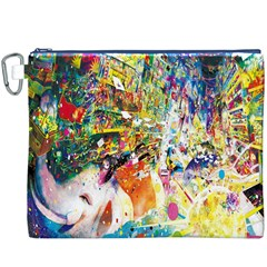 Multicolor Anime Colors Colorful Canvas Cosmetic Bag (xxxl)