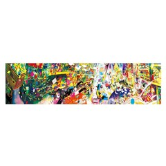 Multicolor Anime Colors Colorful Satin Scarf (oblong)