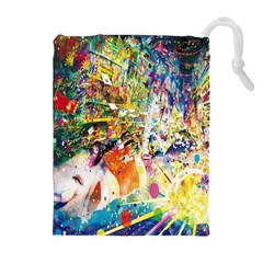 Multicolor Anime Colors Colorful Drawstring Pouches (extra Large)