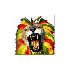 Reggae Lion Square Magnet