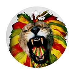Reggae Lion Round Ornament (two Sides)