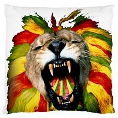 Reggae Lion Large Cushion Case (two Sides)