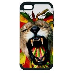 Reggae Lion Apple Iphone 5 Hardshell Case (pc+silicone)