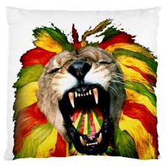 Reggae Lion Large Flano Cushion Case (two Sides)