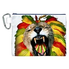 Reggae Lion Canvas Cosmetic Bag (xxl)