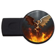 Angels Wings Curious Hell Heaven Usb Flash Drive Round (4 Gb)