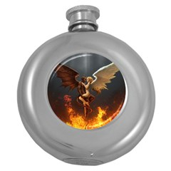Angels Wings Curious Hell Heaven Round Hip Flask (5 Oz)