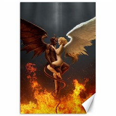 Angels Wings Curious Hell Heaven Canvas 20  X 30