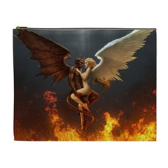 Angels Wings Curious Hell Heaven Cosmetic Bag (xl)