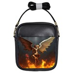 Angels Wings Curious Hell Heaven Girls Sling Bags Front