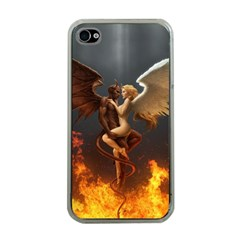 Angels Wings Curious Hell Heaven Apple Iphone 4 Case (clear)