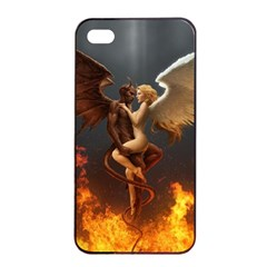 Angels Wings Curious Hell Heaven Apple Iphone 4/4s Seamless Case (black)