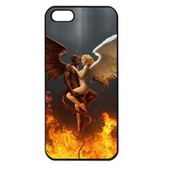 Angels Wings Curious Hell Heaven Apple Iphone 5 Seamless Case (black)