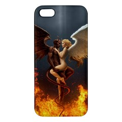 Angels Wings Curious Hell Heaven Apple Iphone 5 Premium Hardshell Case