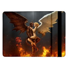 Angels Wings Curious Hell Heaven Samsung Galaxy Tab Pro 12 2  Flip Case