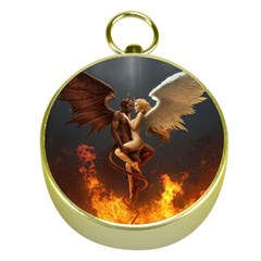 Angels Wings Curious Hell Heaven Gold Compasses