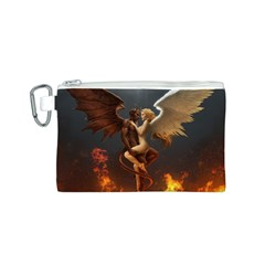 Angels Wings Curious Hell Heaven Canvas Cosmetic Bag (s)