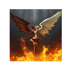 Angels Wings Curious Hell Heaven Small Satin Scarf (square)