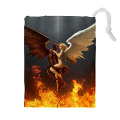 Angels Wings Curious Hell Heaven Drawstring Pouches (extra Large)