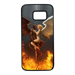 Angels Wings Curious Hell Heaven Samsung Galaxy S7 Black Seamless Case