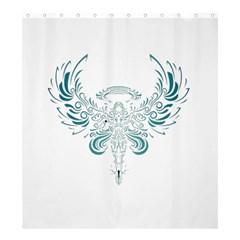 Angel Tribal Art Shower Curtain 66  X 72  (large)