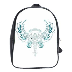 Angel Tribal Art School Bags(large)