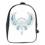 Angel Tribal Art School Bags(Large)  Front